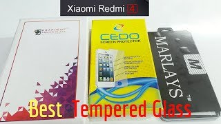 Best TEMPERED GLASS For Xiaomi  Redmi 4 ( Indian Unit )