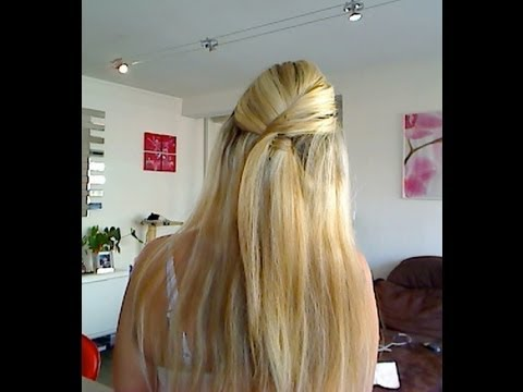 tuto coiffure 24 coiffure simple et rapide en moins de 3min demie queue revisit e youtube. Black Bedroom Furniture Sets. Home Design Ideas