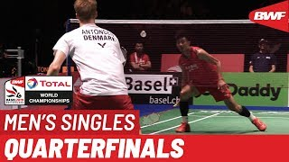 QF | MS | Anders ANTONSEN (DEN) [5] vs. CHEN Long (CHN) [3] | BWF 2019