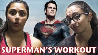 WE TRIED HENRY CAVILL'S SUPERMAN WORKOUT! (feat. Michelle Khare)