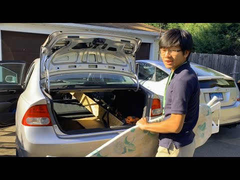 How To Fold Down Rear Seat Back In Your Car To Create Cargo Space For Large Items | Civic 40/60 Etc
