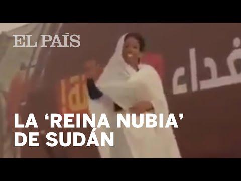 'REINA NUBIA', la mujer que simboliza las protestas en SUDÁN
