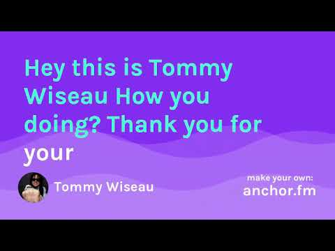 Happy Holiday and Merry Christmas to you @TommyWiseau lyric video