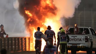 French F1 driver Romain Grosjean survives fireball in 'miracle'