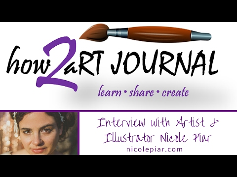 How To Art Journal Interview with Artist & Illustrator Nicole Piar