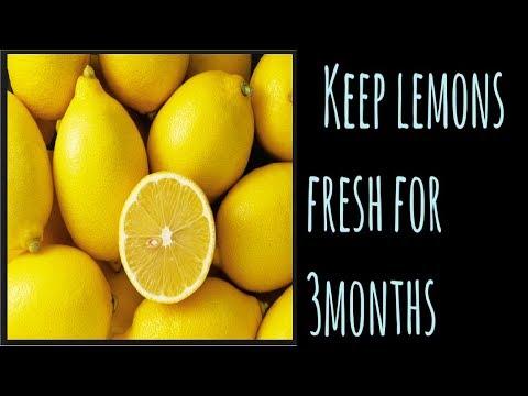 The secret to keeping lemons fresh for 3 months