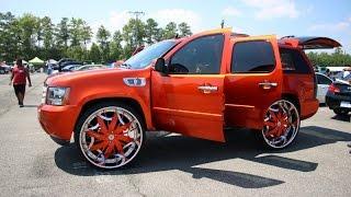 WhipAddict: Kandy Orange Chevrolet Tahoe On Amani Forged Lorenzo 32s, Custom Car Audio