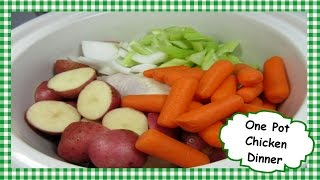 How to Make Easy One Pot Slow Cooked Chicken ~ Chicken Dinner Recipe