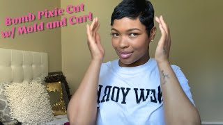How to Mold and Style  Pixie Cut at home