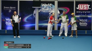 Just. 2019 World Indoor Bowls Championships: Day 2 Session 2