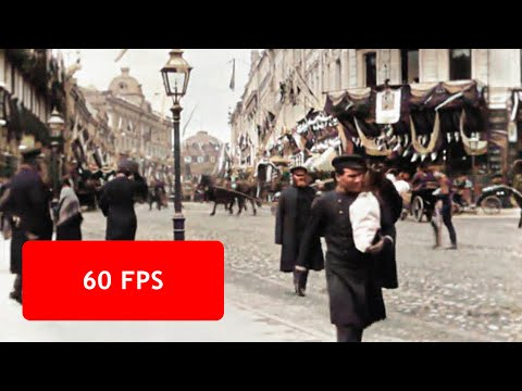 [60 Fps] Moscow, Tverskaya Street In 1896 / Москва, Тверская улица, 1896 год