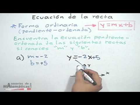 Ecuacin de recta conociendo su pendiente y su ordenada al origen forma ordinariadescargaryoutube co
