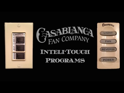 Casablanca Inteli•Touch | Special Program Button Sequences