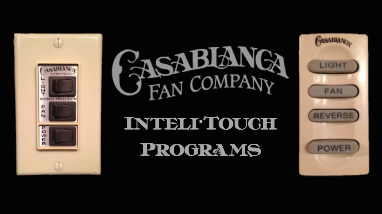 hight resolution of casablanca inteli touch special program button sequences