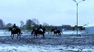 Kębliny - Hubertus 2008 pogoń za lisem