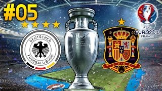 PES 2016 UEFA EURO 2016 #05 ★ Viertelfinale Deutschland Spanien ★ Let's Play UEFA Euro 2016 Deutsch