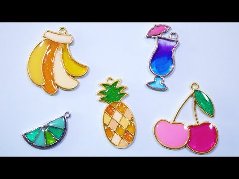 Easy Colorful Fruit UV Resin Charms