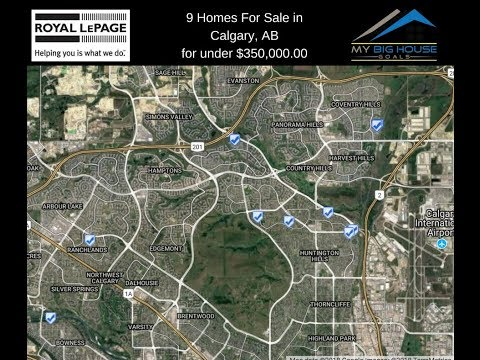 9 Houses Currently For Sale In Calgary, AB, For Under $350,000.00