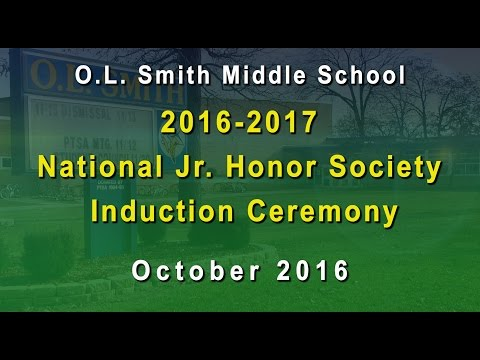 OL Smith 2016 Jr Honors Induction Ceremony