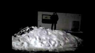 BMX-Schnee frontflip