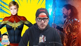 Capitana Marvel será nueva líder del UCM - Aquaman capturas de la PELÍCULA | QR