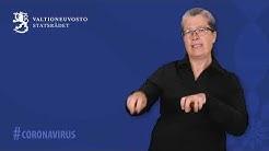 Coronavirus: Statsrådets pressmeddelande från 19.5.2020 på finlandssvenskt teckenspråk