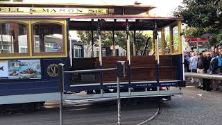 San Francisco Cable Car Turnaround / Разворот трамвая в Сан-Франциско