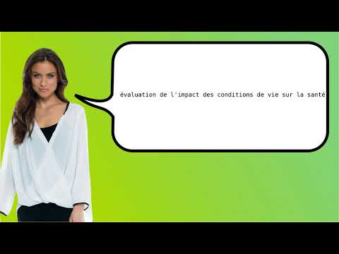 How to say 'environmental health impact assessment' in French?