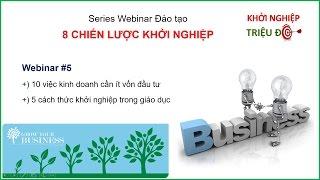 Khởi Nghiệp với 10 việc kinh doanh cần ít vốn đầu tư cùng Victoria Quỳnh Giang