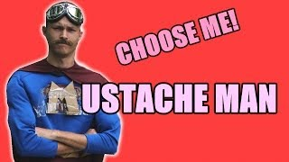 Speed Dating For Superheros - Mustache Man