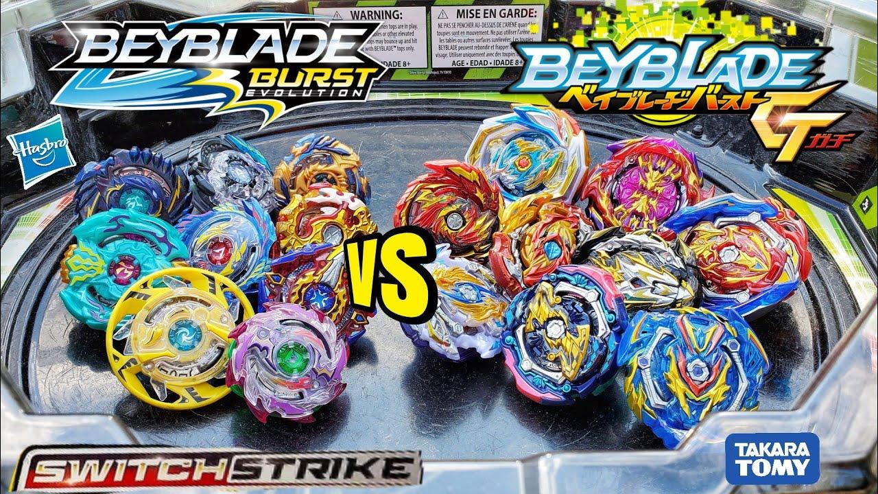 Beyblade Burst SWITCHSTRIKE vs. GT BEYBLADES / Hasbro vs. Takara ...