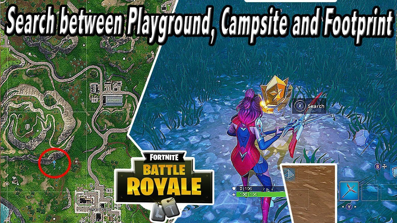 Search Between Playground, Campsite, And Footprint