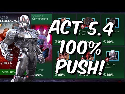 Act 5 Chapter 4 100% Push - Stream #1 - Marvel Contest Of Champions