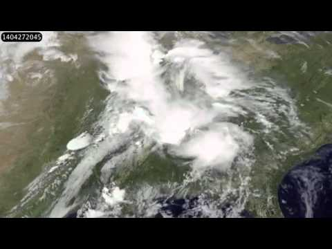 7 State Tornado System Captured By Satellite | Time-Lapse Video