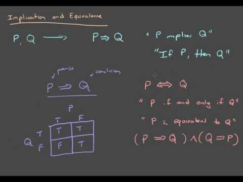Propositional Logic 4: Implication and Equivalence