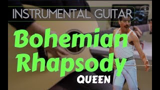 Queen - Bohemian Rhapsody instrumental guitar karaoke version cover with lyrics
