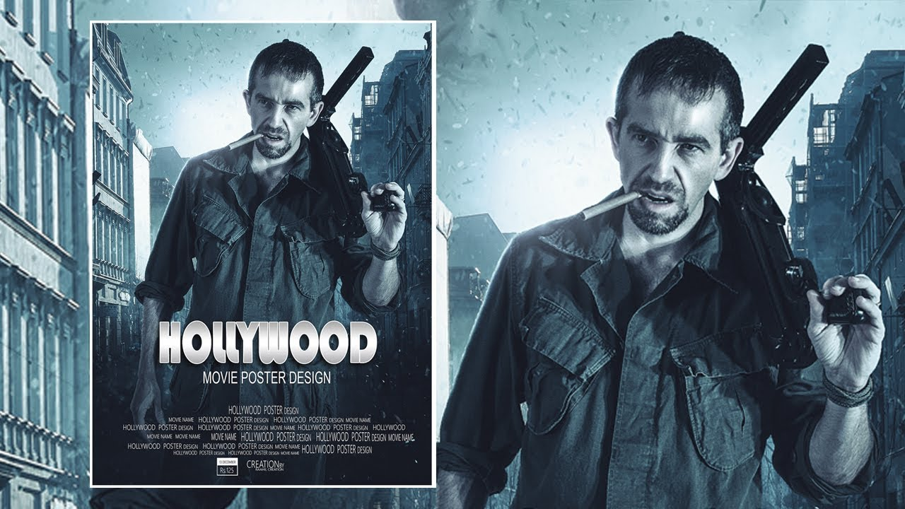 Hollywood Movie Poster Design Photoshop Tutorial Youtube