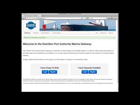 How to Ship Cargo using the Marine Gateway Shipping Portal