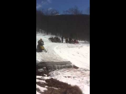 Snowmobiling In Jay VT