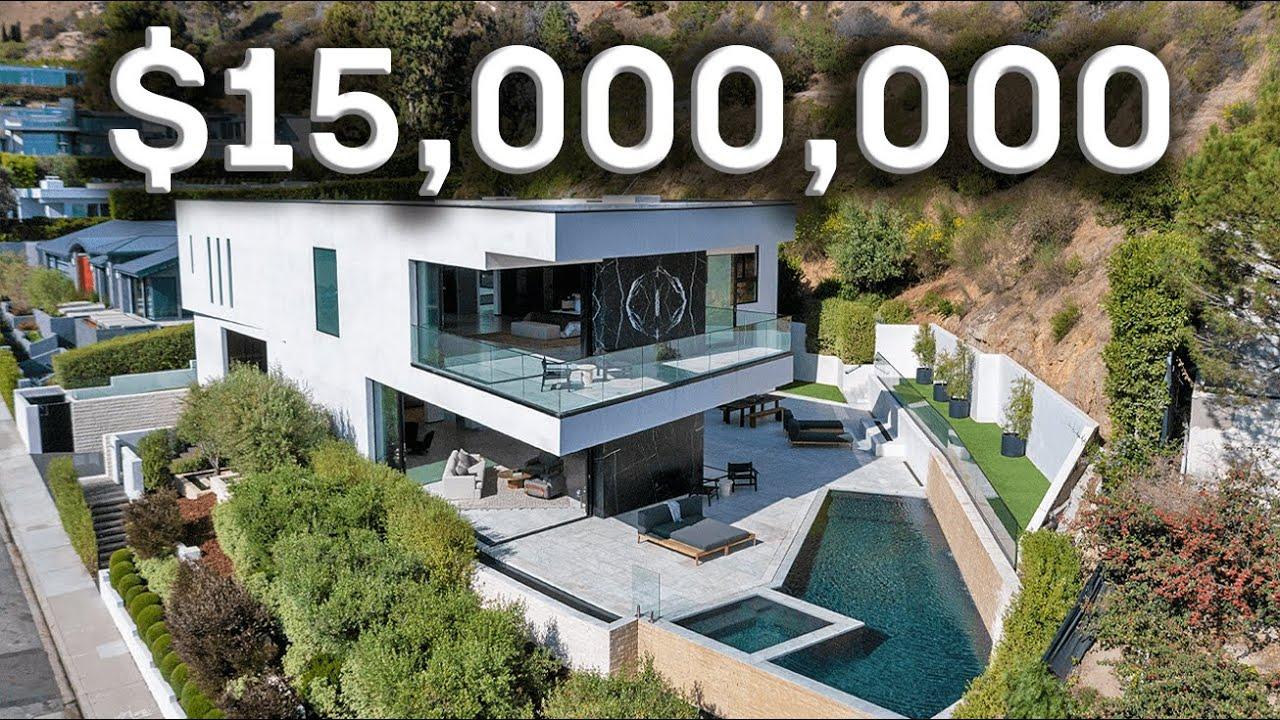 INSIDE A $15 MILLION HOLLYWOOD HILLS MANSION WITH A CHROME BATHTUB!