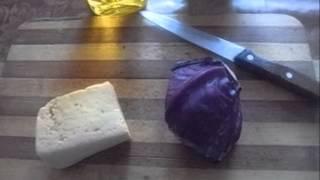 Краснокочанная капуста с сыром.  Мое любимое блюдо