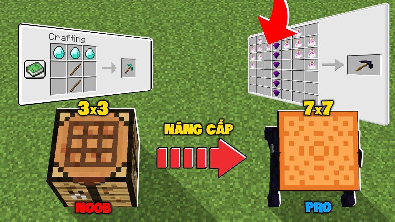 Minecraft NHƯNG BẠN CÓ THỂ NÂNG CẤP BÀN CHẾ TẠO SIÊU VIP !!!