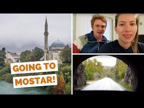 Hvar ferry to Split, Croatia + bus ride to Mostar, Bosnia and Herzegovina travel vlog