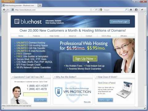 Sign up for Web Hosting & a Domain Name