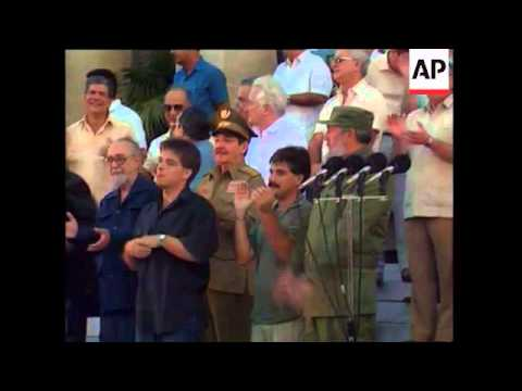 Castro In Brazil For Collor Inauguration, Castro Holding Out