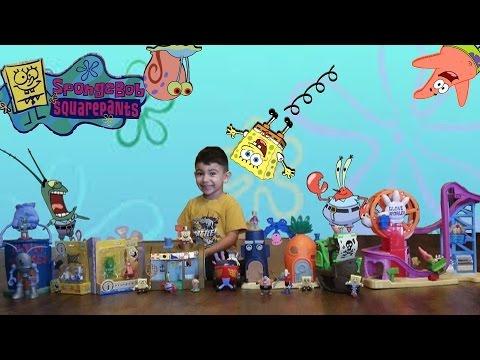 SpongeBob Imaginext Huge Toys Set Bikini Bottom Patrick Star Mr Krabs Squidward Flying Dutchman