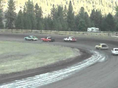 Eagle Track Raceway Fever 4 Main Event Part 1 (Joe Waterfall Crash) Sept 20th 2014