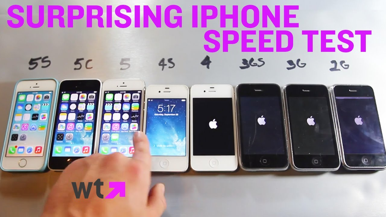 first iphone invented speed test compares every iphone made what s 10603