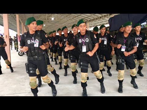 បុណ្យភូមិ. ឡូយ 100 ដង Army BHQ Beautiful dance 2018