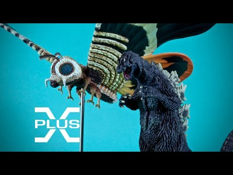 Godzilla and Mothra 1964 from the X-Plus Toho Speacial Effect Museum Limited Set